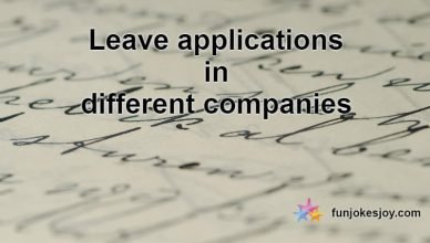 Leave applications in Different Companies