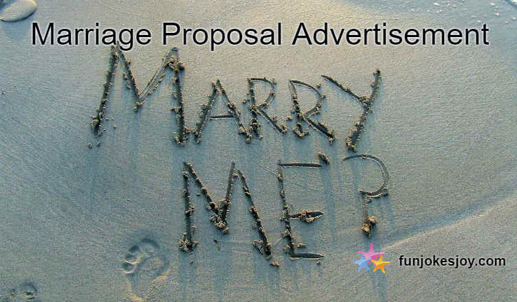 Marriage Proposal Advertisement on TOI