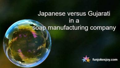 Japanese versus Gujarati in a soap manufacturing company