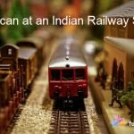 American at an Indian Railway Station