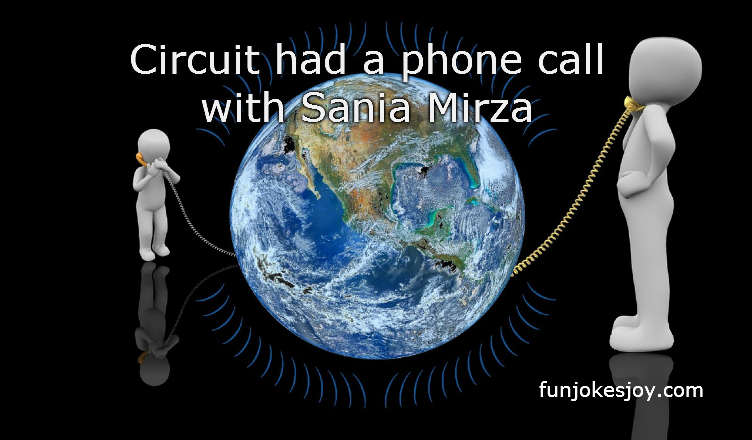 Sania Mirza had a Phone Call with Circuit