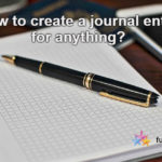 How To Create Journal Entry For Anything?