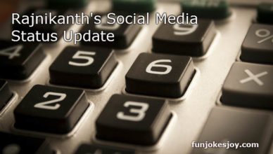 Rajnikanth's Social Media Status Update