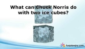 Two Ice Cubes Fighting with Chuck Norris!