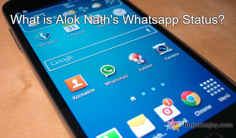 What Is Alok Naths Whatsapp Status Funjokesjoy