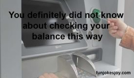 A Different Way of Checking ATM Balance