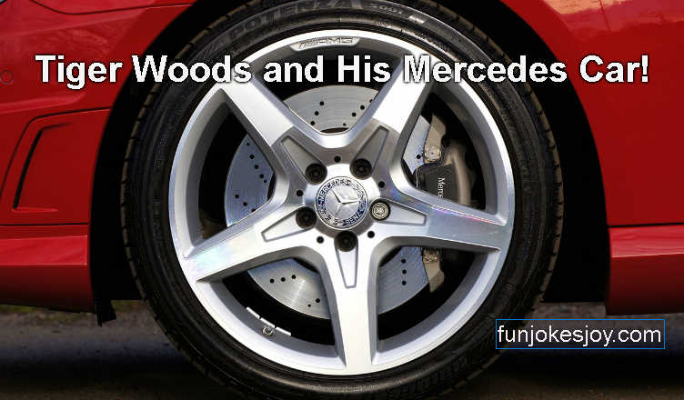Tiger Woods and His Mercedes Car!