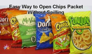 Learn an Easy Way to Open Chips Packet Without Spilling