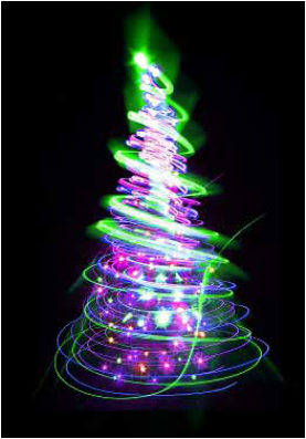 fluorescent colors Christmas tree