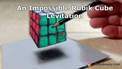 An Impossible Rubik Cube Levitation