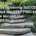 Achieving success by working towards it