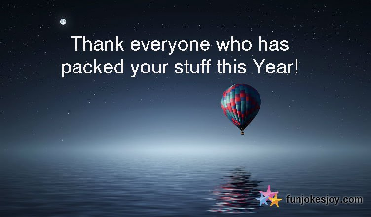 Be the First to Thank Everyone this Coming New Year