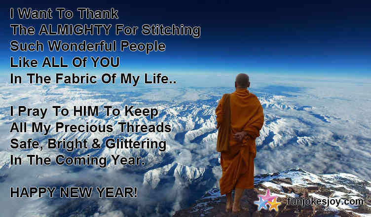 New Year Thanks Message for the Almighty