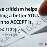 Happiness Quotes on Positive Criticism and Acceptance